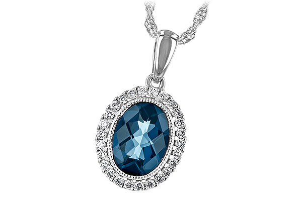 A244-19925: NECK 1.28 LONDON BLUE TOPAZ 1.41 TGW