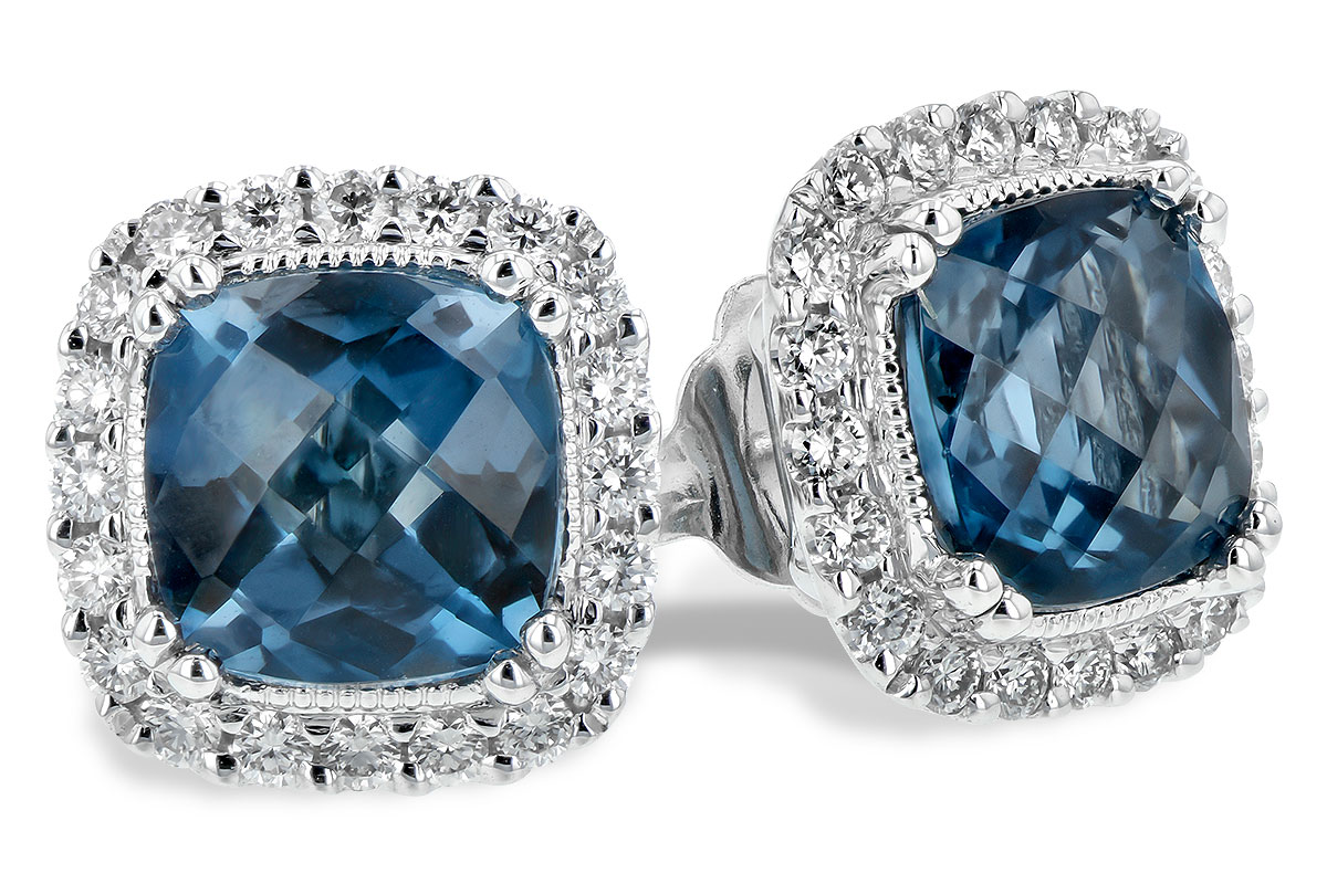 A244-19934: EARR 2.14 LONDON BLUE TOPAZ 2.40 TGW