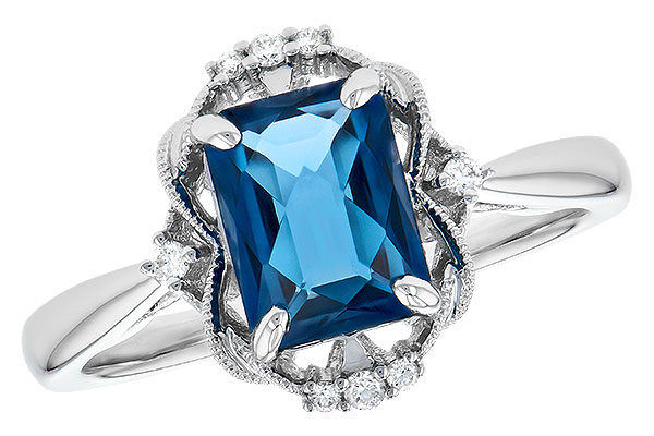 A327-85398: LDS RG 1.70 LONDON BLUE TOPAZ 1.76 TGW