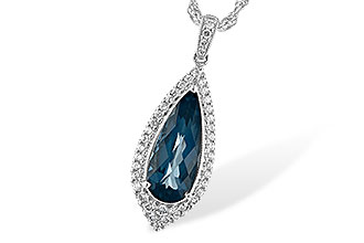 B244-21743: NECK 2.40 LONDON BLUE TOPAZ 2.65 TGW