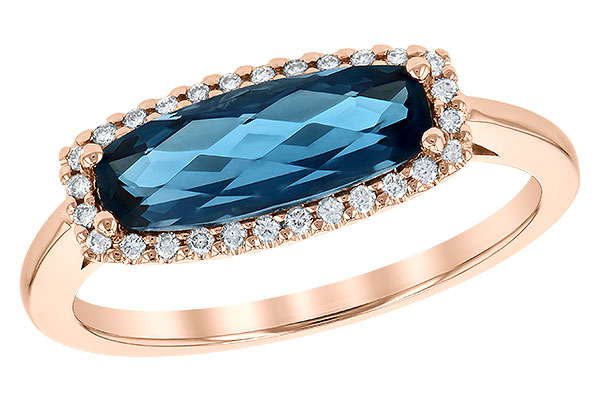 B245-14534: LDS RG 1.79 LONDON BLUE TOPAZ 1.90 TGW