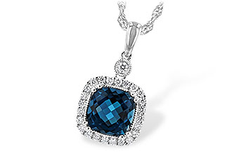 C244-19916: NECK 1.63 LONDON BLUE TOPAZ 1.80 TGW