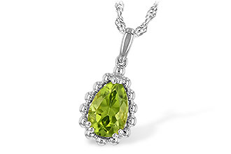 C244-22716: NECKLACE 1.30 CT PERIDOT