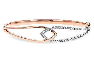 C244-26352: BANGLE BRACELET .50 TW (ROSE & WG)