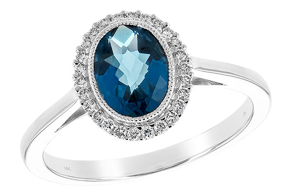 D244-19934: LDS RG 1.27 LONDON BLUE TOPAZ 1.42 TGW