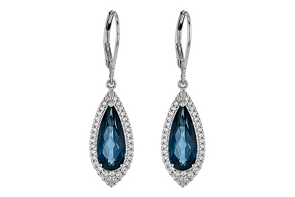 D245-10825: EARR 5.05 LONDON BLUE TOPAZ 5.42 TGW