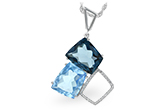 E243-34488: NECK 10.60 BLUE TOPAZ 10.73 TGW