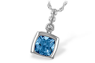 E244-23588: NECK 1.45 BLUE TOPAZ 1.49 TGW
