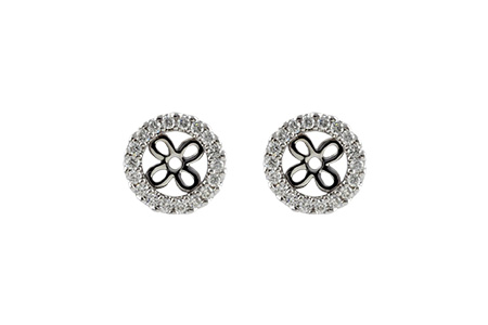 F242-40834: EARRING JACKETS .24 TW (FOR 0.75-1.00 CT TW STUDS)