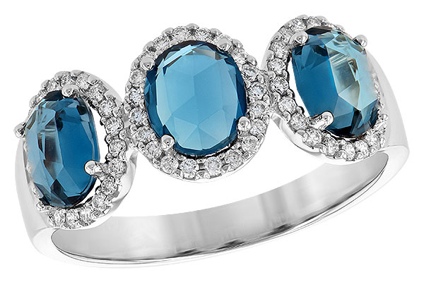 F245-09988: LDS RG 1.80 TW LONDON BLUE TOPAZ 2.02 TGW