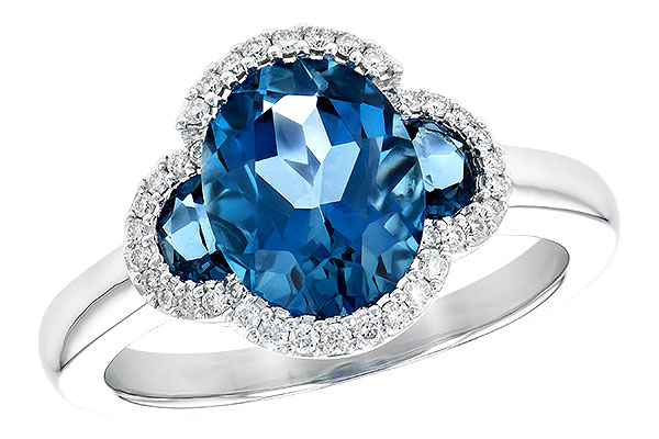 G245-15424: LDS RG 3.04 TW LONDON BLUE TOPAZ 3.20 TGW