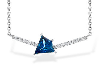G245-16288: NECK .87 LONDON BLUE TOPAZ .95 TGW