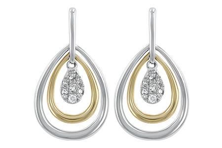 H238-77270: EARRINGS .06 TW