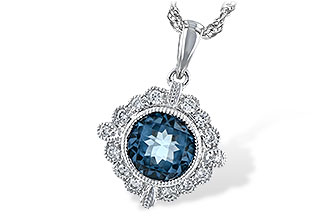 L244-21779: NECK .98 BLUE TOPAZ 1.10 TGW